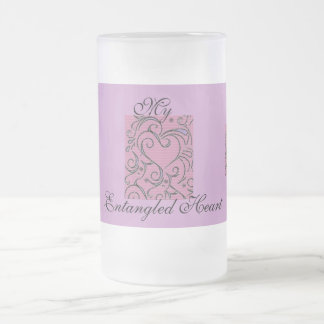 My Entangled Heart Frosted Glass Beer Mug