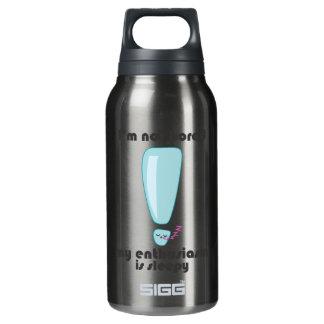My Enthusiasm is Sleepy Kawaii Insulated Water Bottle