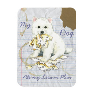 My Eskie Ate My Lesson Plan Rectangular Photo Magnet