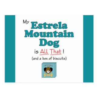 My Estrela Mountain Dog is All That Postcard
