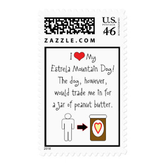 My Estrela Mountain Dog Loves Peanut Butter Stamp