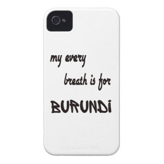 My every breath is for Burundi iPhone 4 Case-Mate Case