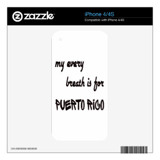 My every breath is for Puerto Rico Decals For The iPhone 4S