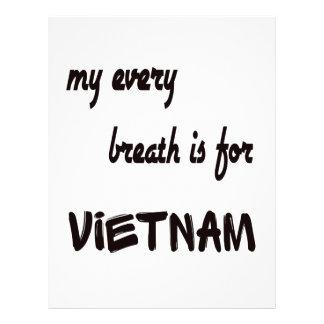 MY Every breath is for Vietnam. Letterhead