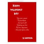 My ex-husband on valentine's day greeting card