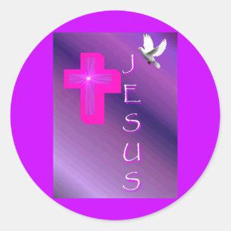 My Expression Of Jesus Classic Round Sticker