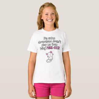My extra chromosome makes me PURR-FECT, glitter T-Shirt