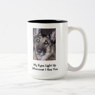 My Eyes Light Up Whenever I See You Two-Tone Coffee Mug