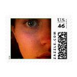 My eyes. postage stamp