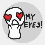 My Eyes! Round Stickers