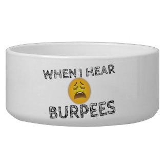 My Face When I Hear Burpees - Upset Emoji Bowl