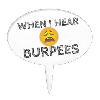 My Face When I Hear Burpees - Upset Emoji Cake Topper