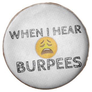 My Face When I Hear Burpees - Upset Emoji Chocolate Dipped Oreo
