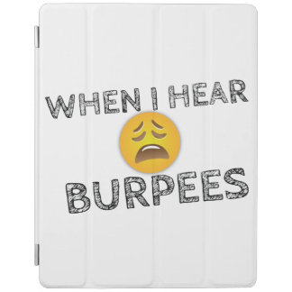 My Face When I Hear Burpees - Upset Emoji iPad Cover