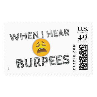 My Face When I Hear Burpees - Upset Emoji Postage