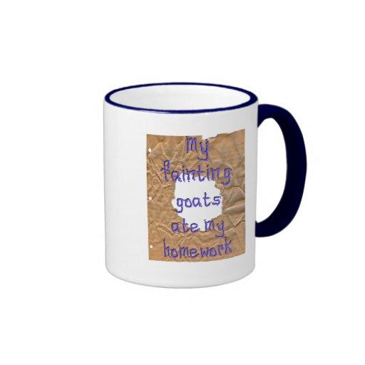 My Fainting Goats Ate My Homework Ringer Coffee Mug