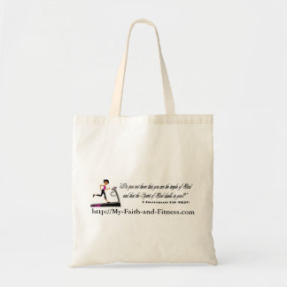 My Faith and Fitness Tote Bag ~ Scripture