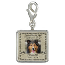 My Faithful Friend Pet Sympathy Custom Burlap Charm