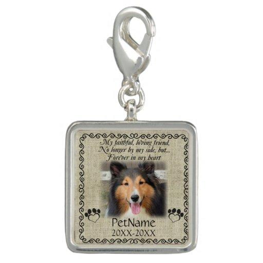 My Faithful Friend Pet Sympathy Custom Burlap Charm