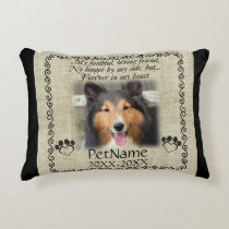 My Faithful Friend Pet Sympathy Custom Burlap Decorative Pillow