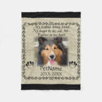 My Faithful Friend Pet Sympathy Custom Burlap Fleece Blanket