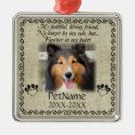 My Faithful Friend Pet Sympathy Custom Burlap Metal Ornament