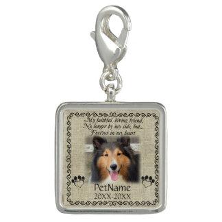 My Faithful Friend Pet Sympathy Custom Burlap Photo Charm