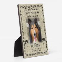 My Faithful Friend Pet Sympathy Custom Burlap Plaque