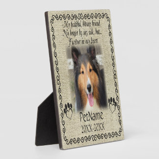 My Faithful Friend Pet Sympathy Custom Burlap Plaque