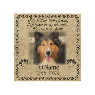 My Faithful Friend Pet Sympathy Custom Burlap Wood Print