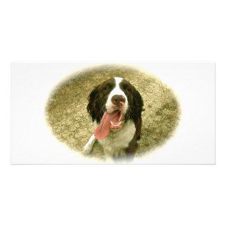 My Faithful Spaniel Photo Card