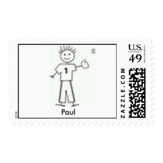 My Family - Baseball - Customized Postage Stamps