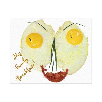 My Family Breakfast egg face Canvas Print