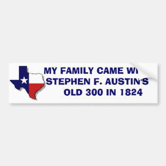 MY FAMILY CAME WITH SFA BUMPER STICKER