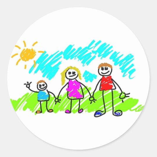 My Family Classic Round Sticker