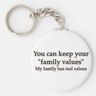 My family has real values keychain