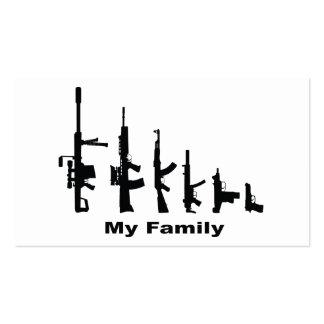 My Family (I Love Guns) Business Card