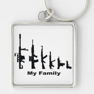My Family (I Love Guns) Keychain