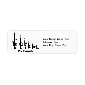 My Family (I Love Guns) Return Address Label