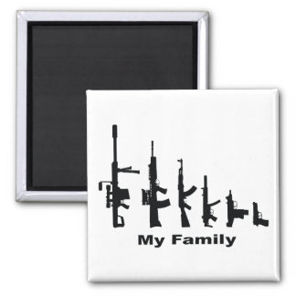 My Family (I Love Guns) Magnet