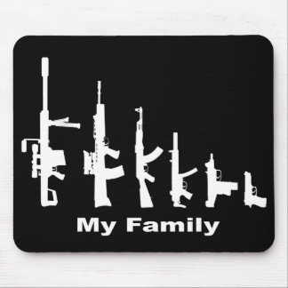 My Family (I Love Guns) Mouse Pad