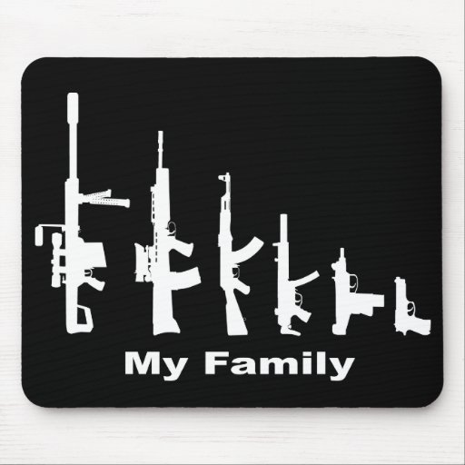 My Family (I Love Guns) Mouse Pad