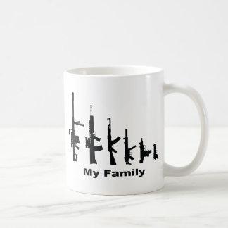 My Family (I Love Guns) Mugs