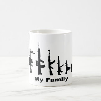 My Family (I Love Guns) Coffee Mug