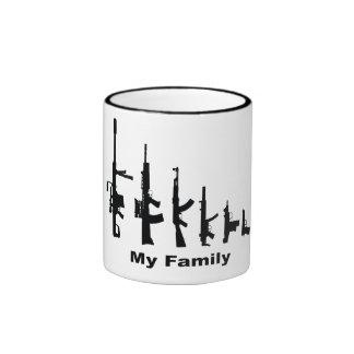 My Family (I Love Guns) Ringer Mug