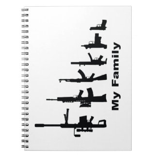 My Family (I Love Guns) Spiral Notebook