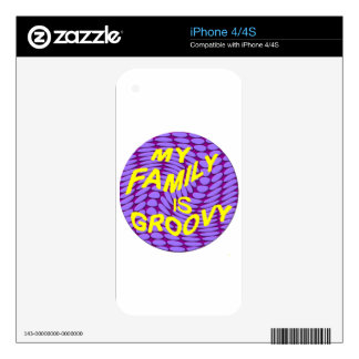 My Family is Groovy! Decal For The iPhone 4