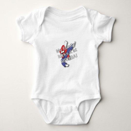 My Family Kicks It Baby Bodysuit
