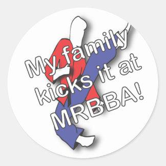 My Family Kicks It Sticker