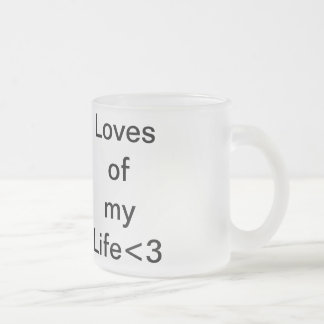 my family 10 oz frosted glass coffee mug